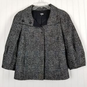 Ann Taylor Wool Blend Tweed Boxy Blazer Jacket S